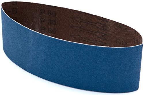 Multiblade Professioneler schleifbänder Zirkonia 100x560mm, 3 Stück, Korn 80, für Holz und Metall, Profesioneller Qualität, für Schleifbandmaschinen