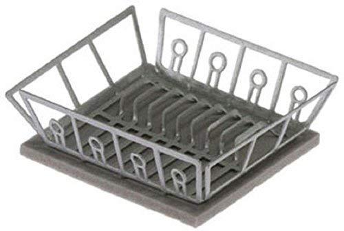 Melody Jane Casa de Muñecas Escurreplatos y Tapete Secado Miniatura Lavado Accesorio Cocina