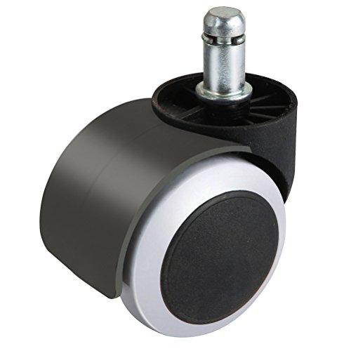 BESTMOZE 5PCS 2Zoll Bürostuhl/Chefsessel Schutz Terrassendielen Roulette-Räder Rollen von Möbeln