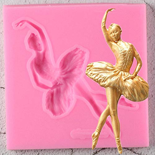 YUIOP Molde de Silicona para Bailarina de Ballet Sugarcraft Molde para Fondant...