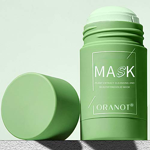 Green Tea Purifying Clay Mask Stick, Face Moisturizes, Oil Control, Deep Pore Cleansing, Blackhead Remover, Skin Texture Improving for All Skin Types