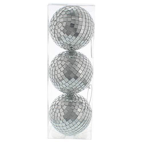 CRAFTY CAPERS Bola de espejo de 3 8 cm para árbol de Navidad