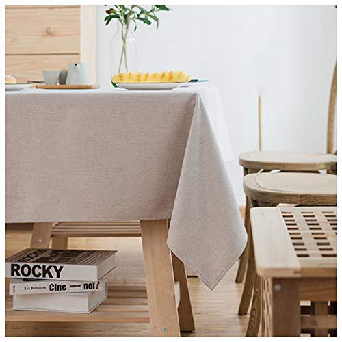 MeiMei Table Basse Gris Clair Moderne rectangulaire Tissu Tissu Lin Coton Anti-brûlure (Taille : 160X240CM)