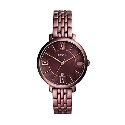 Fossil Damen Analog Quarz Uhr mit Edelstahl Armband ES4100