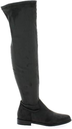 Pao Bottes Stretch Velours gris