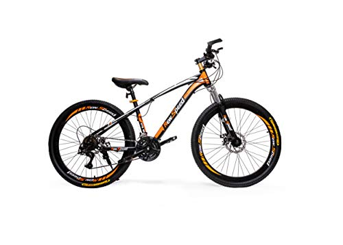 NEWSPEED Mountain bike 26' wheel 21 speed L-TWOO gears WANDA tyres (Black/Orange)