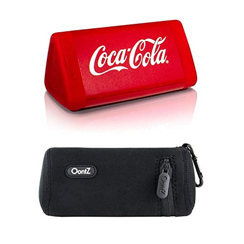 OontZ Angle 3 Coca-Cola Edition, Bluetooth Portable Speaker, Louder Volume, Crystal Clear Stereo Sound, Rich Bass, 100 Ft Wireless Range, Microphone, IPX5, Bluetooth Speaker with Official Carry Case