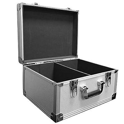Freelogix Professional DJ Silver Flight Case Record Box for 7inch Singles