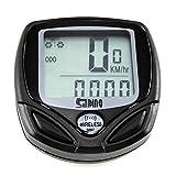 MXECO Automatique Fonction Étanche En Plastique Sans Fil Étanche Table De Code Vélo Code Table Voyage Odomètre Riding Speedometer (gris)