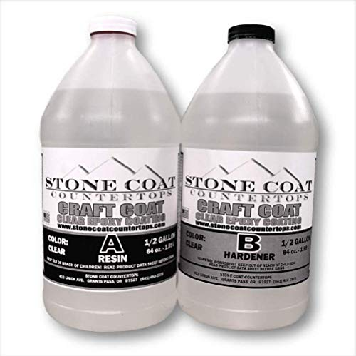 Craft Coat (1 Gallon) Kit (Stone Coat Countertops) - Colorable 2-Part DIY Epoxy for Craft Projects, Epoxy Training, Learning Color Techniques, and More!