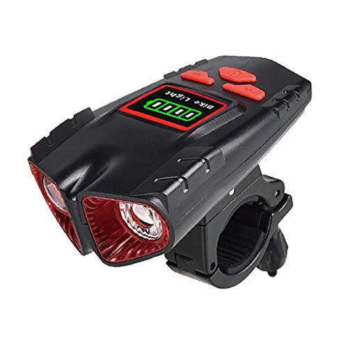 Colcolo USB LED Faros Delanteros de Bicicleta Luz Trasera Lámpara de Cuerno de Odómetro de 500 Lúmenes - Red 2.0