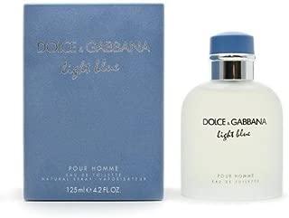Dolce and Gabbana Light Blue Eau de Toilette Spray for Men, 4.2 Oz