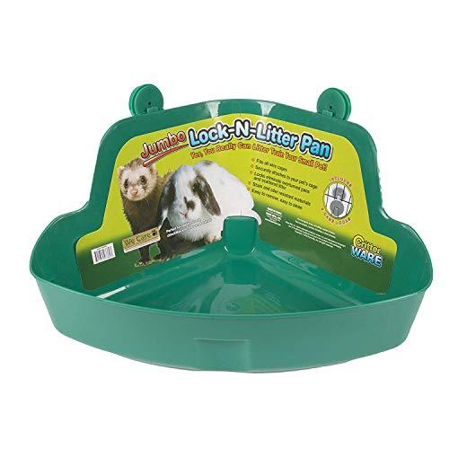 Ware (2 Pack) Manufacturing Plastic Pet Lock N Litter Pan Jumbo Assorted...