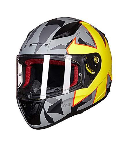 SMINNG Casco Integral de Moto Certificación Dot/ECE Casco de Motocicleta anticolisión de Cara Completa Casco Moto Integral Adultos en Completa Casco Helmet D,L(59~60cm)