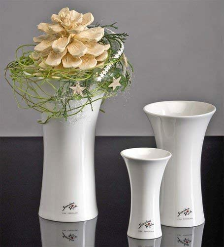 Porzellan X-Vase 22 weiss