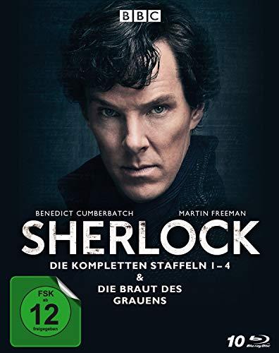 Sherlock - Die kompletten Staffeln 1-4 & Die Braut des Grauens [Blu-ray]
