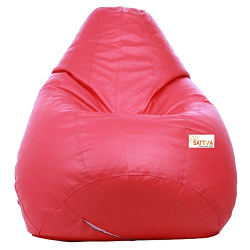 Sattva Classic XXXL Bean Bag Filled with Beans - Pink