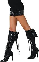 Black Boot Cuffs with Ribbon Tie - Adult Std.