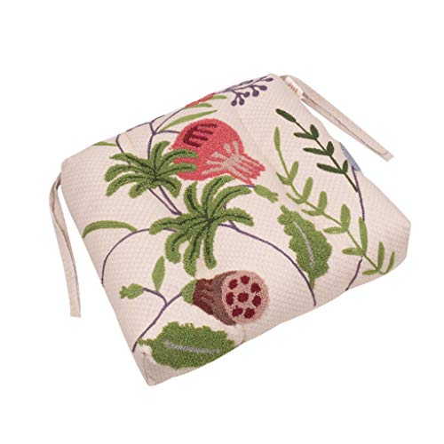 GYZ Embroidered Seat Cushion, Dining Chair Cushion American Thickened Office Cushion For Home Terrace Use Non-slip Home Decor Chair cushion (Color : A)