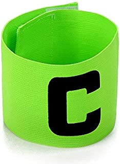 UNAOIWN Captain Armband Soccer Football Elastic Adjustable Player Bands for Adult and Child