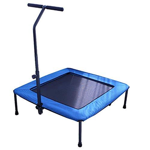 GCZZYMX Colchoneta de salto Rebounder Bouncer Trampolín Cama elástica plegable pequeña para ejercicios con asa ajustable para niños y adultos Colchoneta de salto Dispositivo deportivo de ejercicio a