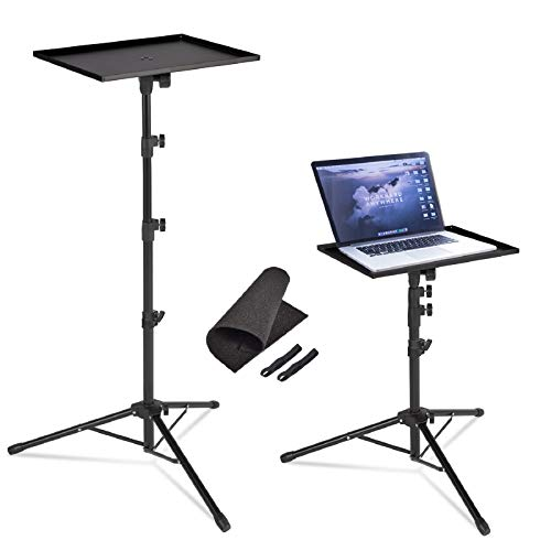 AkTop Pro Laptop Projector Tripod Stand, Universal Laptop Floor Stand Adjustable Tall 23 to 63 Inch, Detachable Computer DJ Equipment Holder Mount Perfect for Stage or Studio with Portable Travel Bag