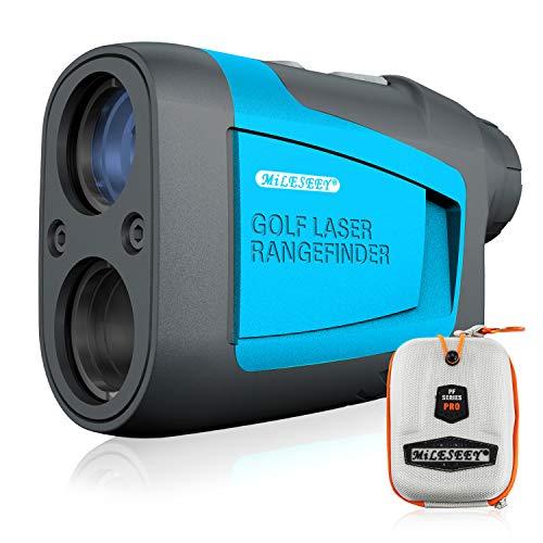 MiLESEEY PRO Telemetro da Golf, Telemetro Laser di Precisione con Binocolo 660 Yard Ingrandimento X6 Impermeabile – per Caccia, Tiro con L'Arco, Golf