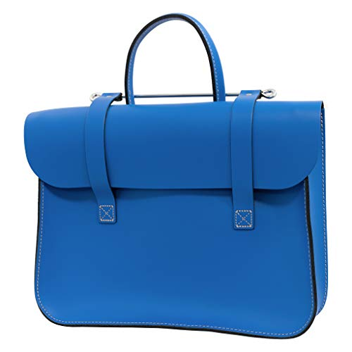 Traditional classic leather music case - The original and best! (Royal Blue)