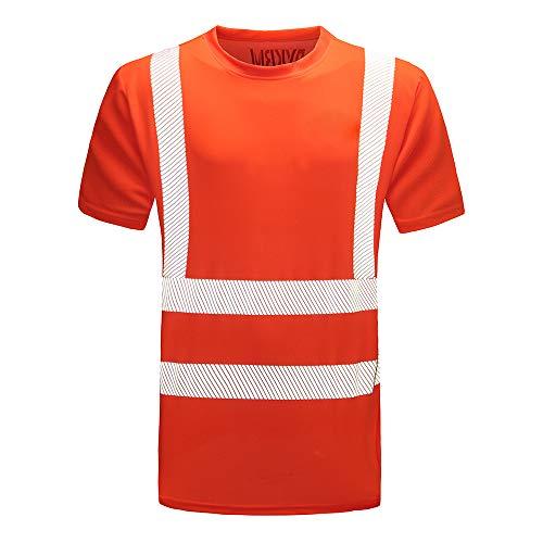Warnschutz T-Shirt Warnschutzshirt Warnshirt (Orange, M)