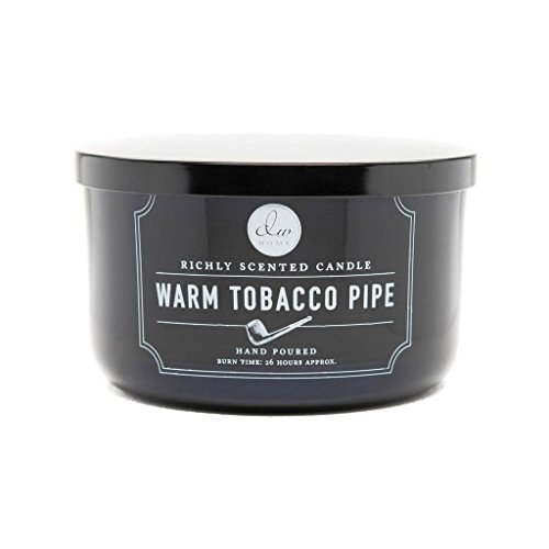 Decoware Richly Scented Warm Tobacco Pipe 3-Wick Candle In Glass by Decoware
