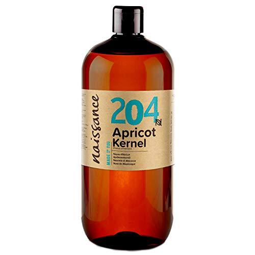 Naissance Olio di Nocciolo di Albicocca 1L - Puro, Naturale, Vegan, non OGM - Ideale per Massaggio, Pelle e Capelli