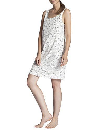 Calida Cosy Cotton Jersey Sleepshirt ärmellos, Länge 90cm Damen