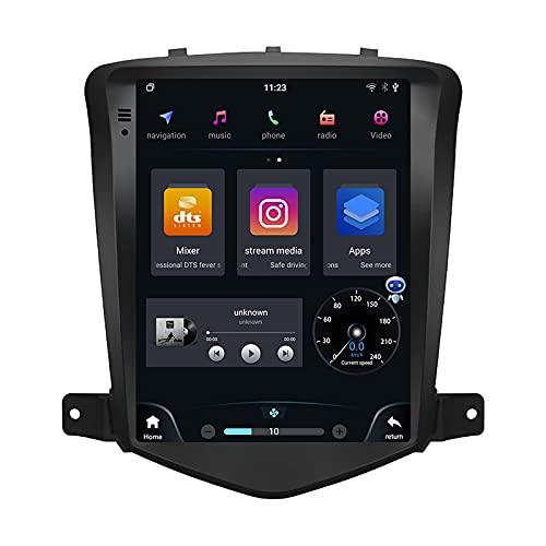 EZoneTronics Android 10 Radio estéreo para Chevrolet Chevy Cruze 2009-2015 10.4 pulgadas Tesla Style Car in-Dash Navegación GPS IPS Pantalla táctil Qualcomm Octa Core 2+32 GB incorporado BT WiFi 4G