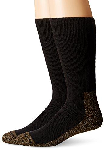 Carhartt Men's 2 Pack Full Cushion Steel-Toe Synthetic Work Boot Socks, Black Heather, Shoe Size: 11-15