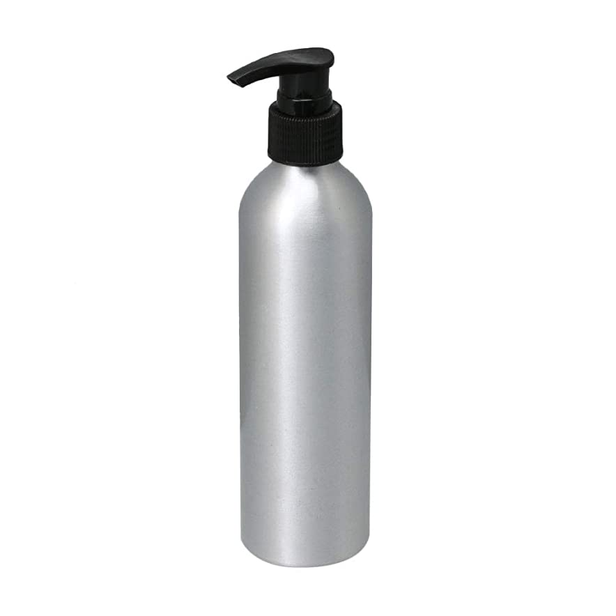 kaity office ポンプボトル 250ml コスメ用詰替え容器 詰め替え用ボトル アルミボトル 繰り返し使用 噴霧器 アルミボトル 黒ポンプヘッド