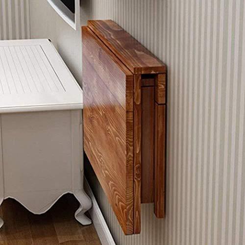 DNSJB - Mesa plegable de madera maciza para colgar en la pared, mesa de comedor, portátil, mesa de café (tamaño: 100 x 40 cm)