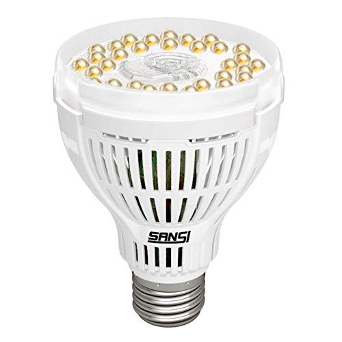 SANSI 15W LED Grow Light Bulb, Daylight White Full Spectrum Grow Lights for Indoor Plants, LED Plant Light Bulbs for Indoor Garden Houseplants, Commercial Hydroponic Horticulture, E26 A21 120V