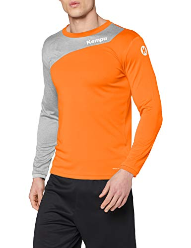 Kempa Core 2.0 Chemise à Manches Longues Homme, Fresh Orange/Gris Foncé Mélange, FR (Taille Fabricant : 3XL)