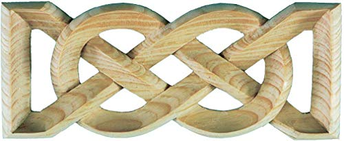 Wild Goose Carvings Irish Heritage Knotwork Centerpiece. Small Size. 9 in Long x 3½ in Wide x ¾ in Thick. Celtic Weave Panel Hand Carved in Solid Natural Pinewood by Our Master Craftsmen.