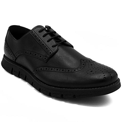 Nautica Men's Wingdeck Oxford Shoe Fashion Sneaker Black Smooth-8