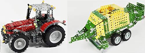 Metallbaukasten RC Traktor Fendt Vario 313 - 574 Teile 1:24 LED Komplett-Set Werkzeug ab 12 Jahren Anleitung Erwachsene Metallbaukästen Metallbautechnik Lernfeld Tronico*