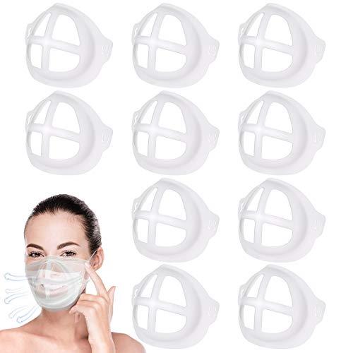 3D Maskenhalter, 10 Stück Maskenhalterung Mundschutz Mehr Platz für bequemes Atmen Innenhalterung Lippenschutz (Transparent)