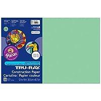 Tru-Ray PAC103047BN Construction Paper Light Green 12 x 18 50 Sheets per Pack 5 Packs [並行輸入品]