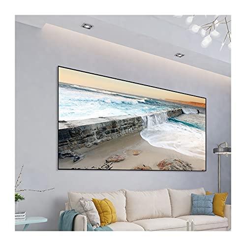 Gwendolyn Pantalla portátil para proyector 60 84 100 120 130 Pulgadas HD Pantalla de proyector High Brillo Reflectante Tela de Tela Pantalla de proyección Pantalla Anti-luz (Size : 130 Inch)