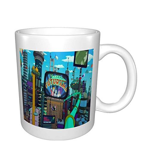 N\A Tazas de cerámica Futurama, Tazas de café de diseño único, Taza de té Impresa para el hogar, la Oficina, la Clase, al Aire Libre