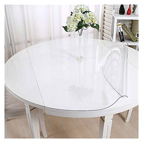 ALGWXQ Mantel Transparente Protector De Mesa Fácil De Limpiar Durable Cocina Sala Escritorio Almohadilla Impermeable Protector Mesa Redonda 2 Espesores, 6 Especificaciones