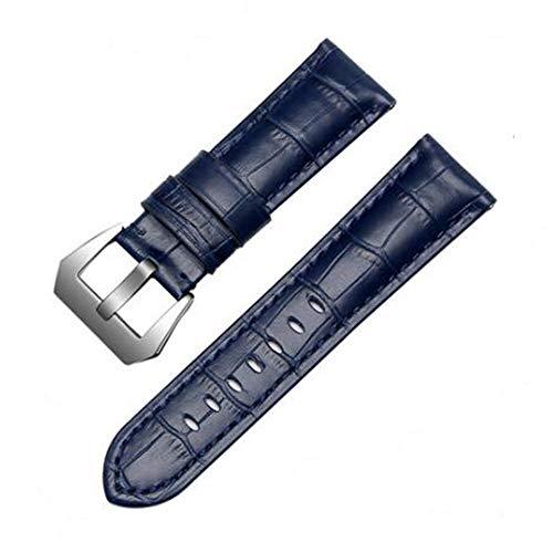 FOUUA cinturino cinturino bracciale PANERAI 22mm 24mm 26mm cinturino in pelle di alligatore vintage goffrato cinturino nero marrone blu trasloco per PANERAI LUMINOR 44 uomini