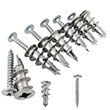 Ansoon Zinc Self-Drilling Drywall Anchors with Screws Kit, 50 Pieces All Together...