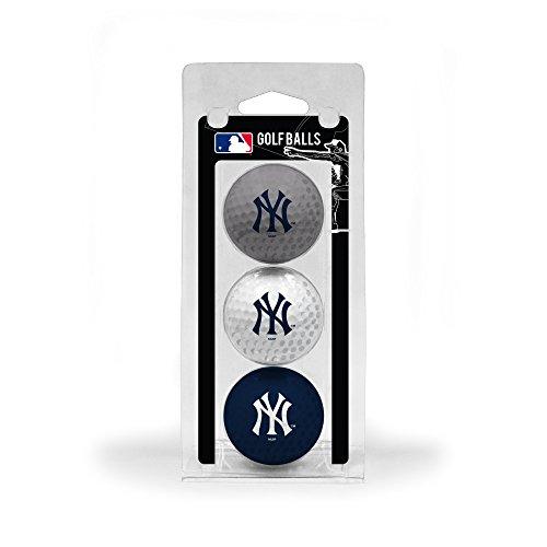 Team Golf MLB New York Yankees Regulation Size Golf Balls, 3 Pack, Full Color Durable Team Imprint,Navy