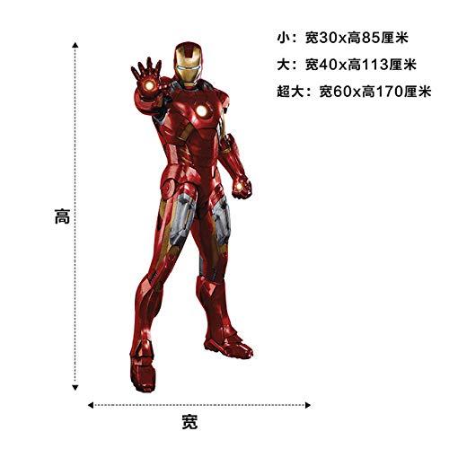 3d Iron Man Etiqueta De La Pared Vinilo Arte Calcomanía Decoración Cartel Mural